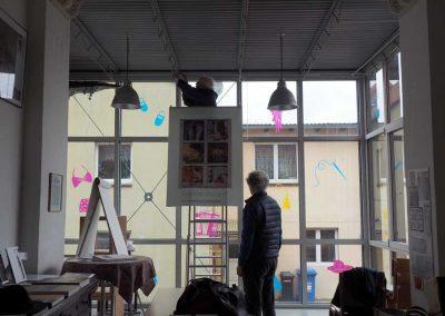 Vorbereitung für die Ausstellung Menschen im Museum